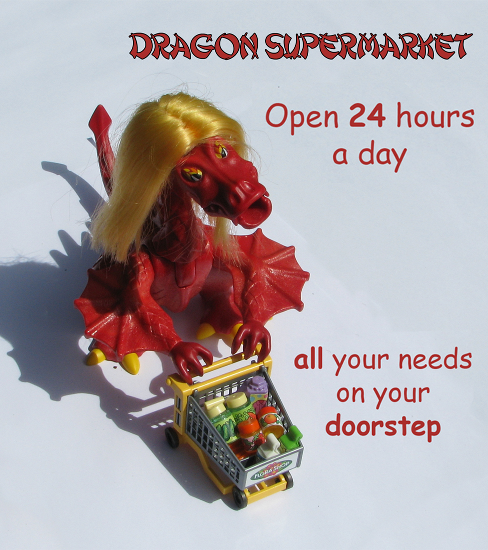 In-store poster at the Dragon Supermarket (Page 27)